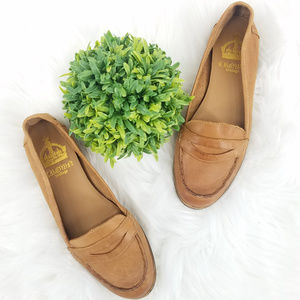 Crown Vintage Natural Tan Leather Loafer Flats